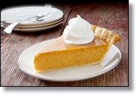 Picture of a slice of pumpkin pie