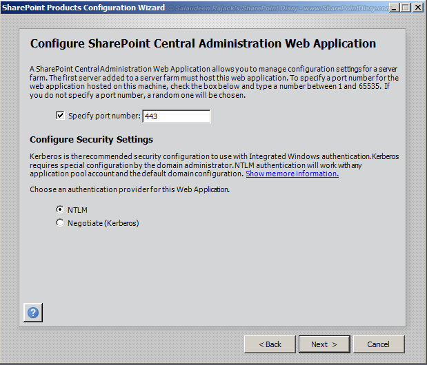 Change central administration port in SharePoint 2010