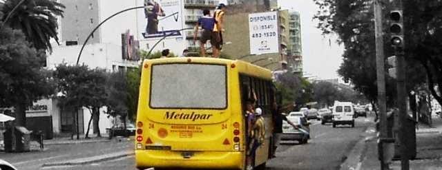 Transporte publico copado por hinchas de Rosario Central