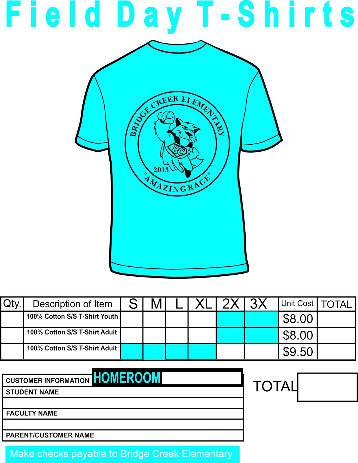 Bridge Creek Elementary - Physical Education: Field Day T-shirts ...