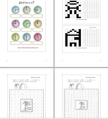 Laberintos, Sopas de Letras, Sudokus,dibujos,dibujos para imprimir