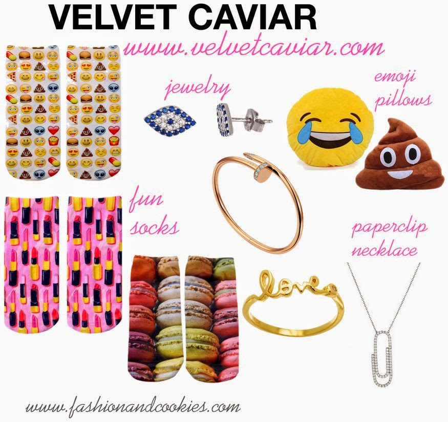 Velvet Caviar wishlist, emoji socks, emoji pillows, cool iPhone cases, Kelly clutch, affordable accessories, new webshop, Fashion and Cookies fashion blog, fashion blogger