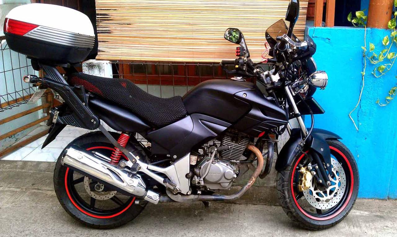 foto, gambar modifikasi motor tiger 2000 touring - sukaon
