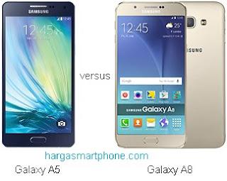 Harga dan Perbedaan Samsung Galaxy A5 dengan A8