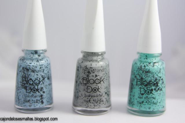 flormar black dot speckled nail