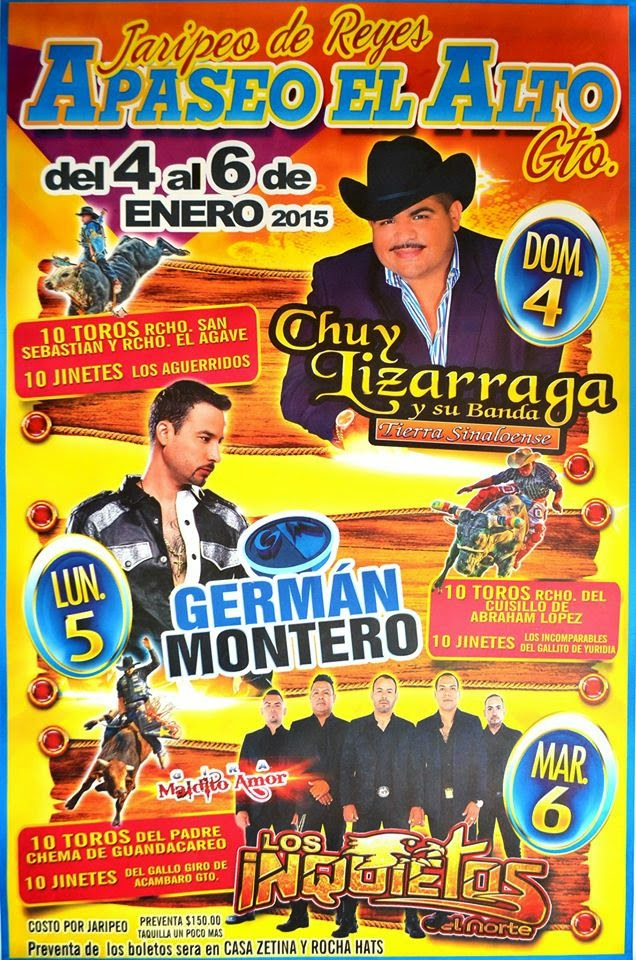 Alto 2015 programa teatro del pueblo y jaripeos ferias de mexico