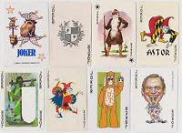 a lot of 8 playing card jokers bought on ebay