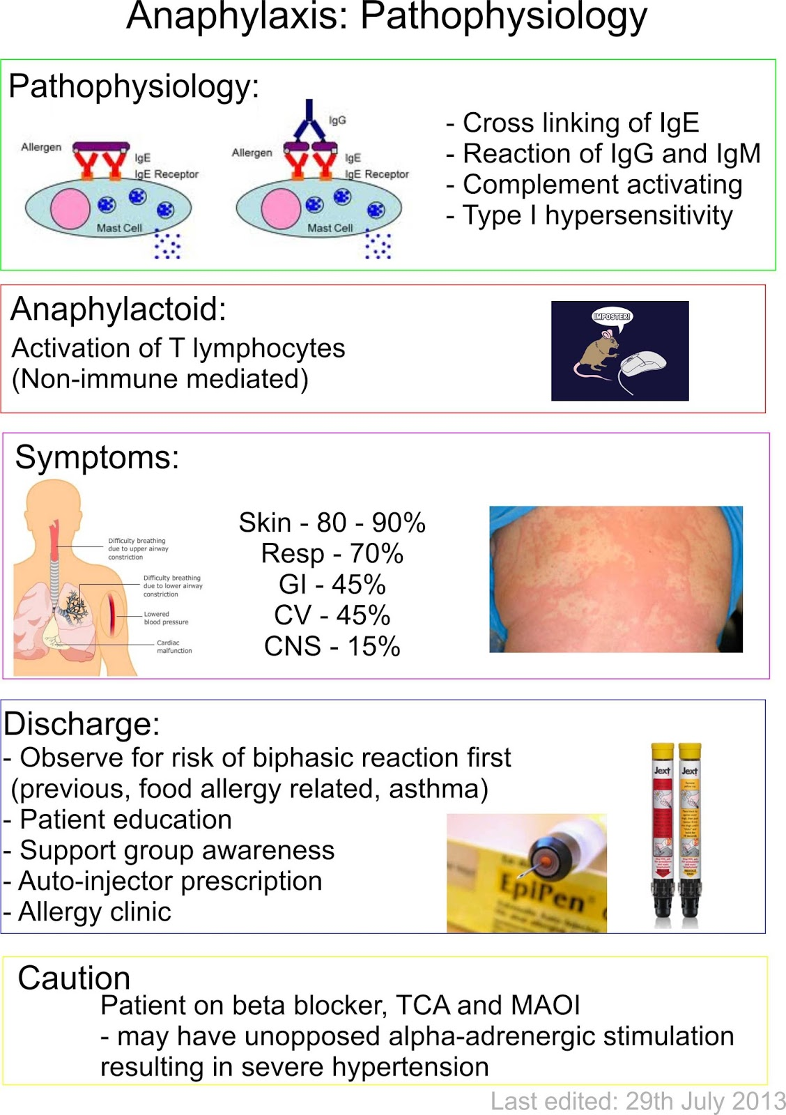 Anaphylaxis Pathophysiology Summary