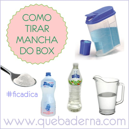 mistura para tirar mancha do box de vidro