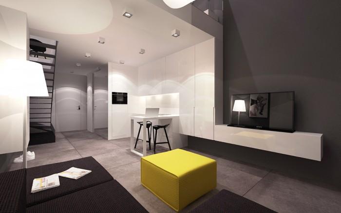 Minimal Style House house tour. un loft minimal definito da un tocco di colore.   home