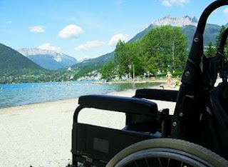 Wheelchair Access On The Beach, St Jorioz, Lake Annecy
