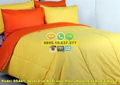 Harga Sprei Dan Bedcover Polos Kuning-yellow/katun Panca Jual