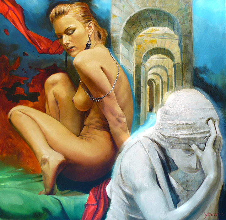 Miroslav Yotov 1977 | Bulgarian Surrealist painter