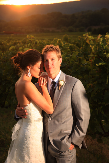 Bride and Groom Breaux Vineyard| Whysall Photography