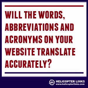 Will the words, abbreviations and acronyms on your website translate accurately?