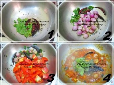 Tomato Mint Chutney | தக்காளி புதினா சட்னி | Thakkali Pudina Chutney