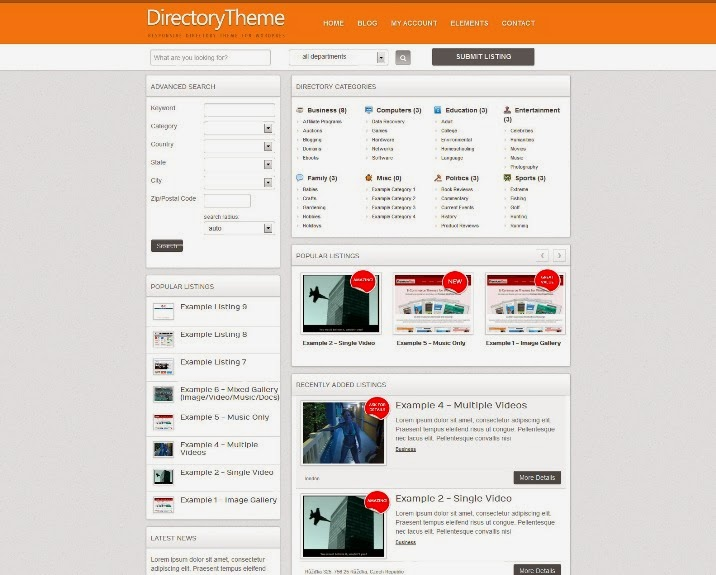 Directory Responsive WordPress Theme