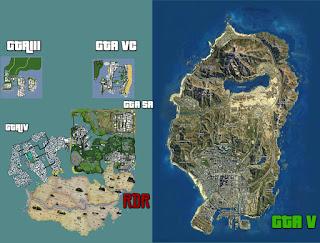 Skyrim gta v map comparison