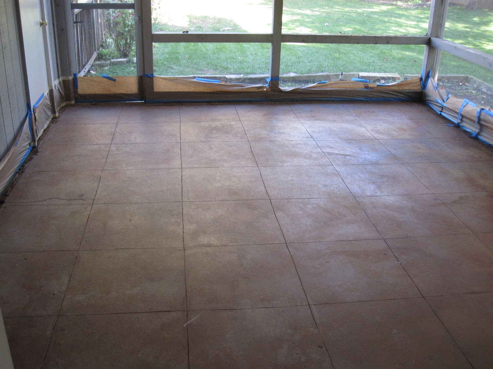 The Floor No Longer Looks Like A Boring Grey Concrete Slab On Grade