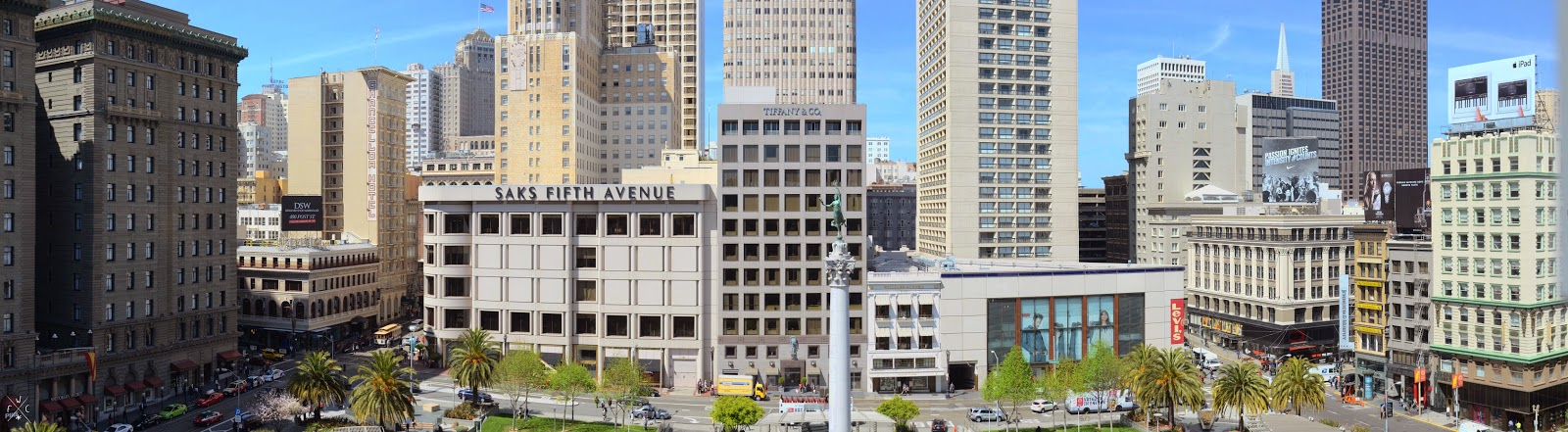 Union Square - Vues sur San Francisco, Californie, USA