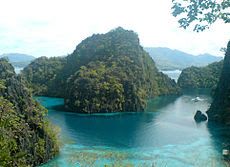 Coron Island Cove in Palawan, Philippines.