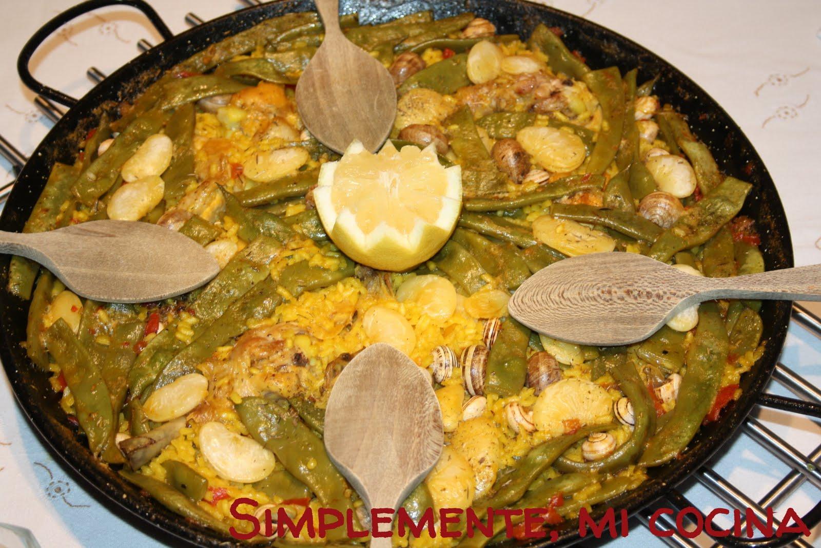 Simplemente mi cocina paella valenciana for Cocina valenciana