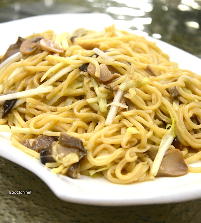 Fried Yee Mee with Assorted Mushrooms and Truffle Oil