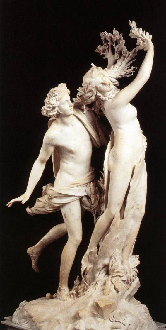 apollo and daphne by bernini Gianlorenzo bernini's apollo and daphne of 1622-25 introduced an entirely new  sculptural aesthetic and is widely admired as one of the great.