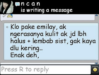 Testimoni pemakaian emilay whitening oolips beauty