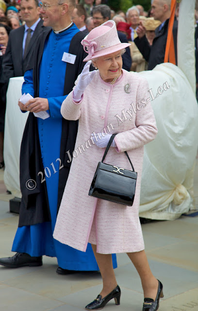 HM The Queen at Hereford Cathedral. © Jonathan Myles-Lea