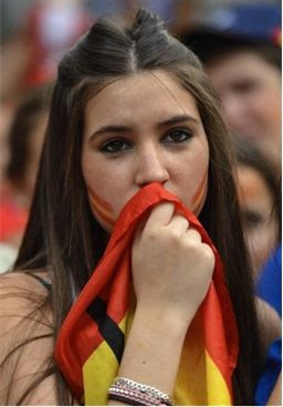 Spain girls fans Euro 2012