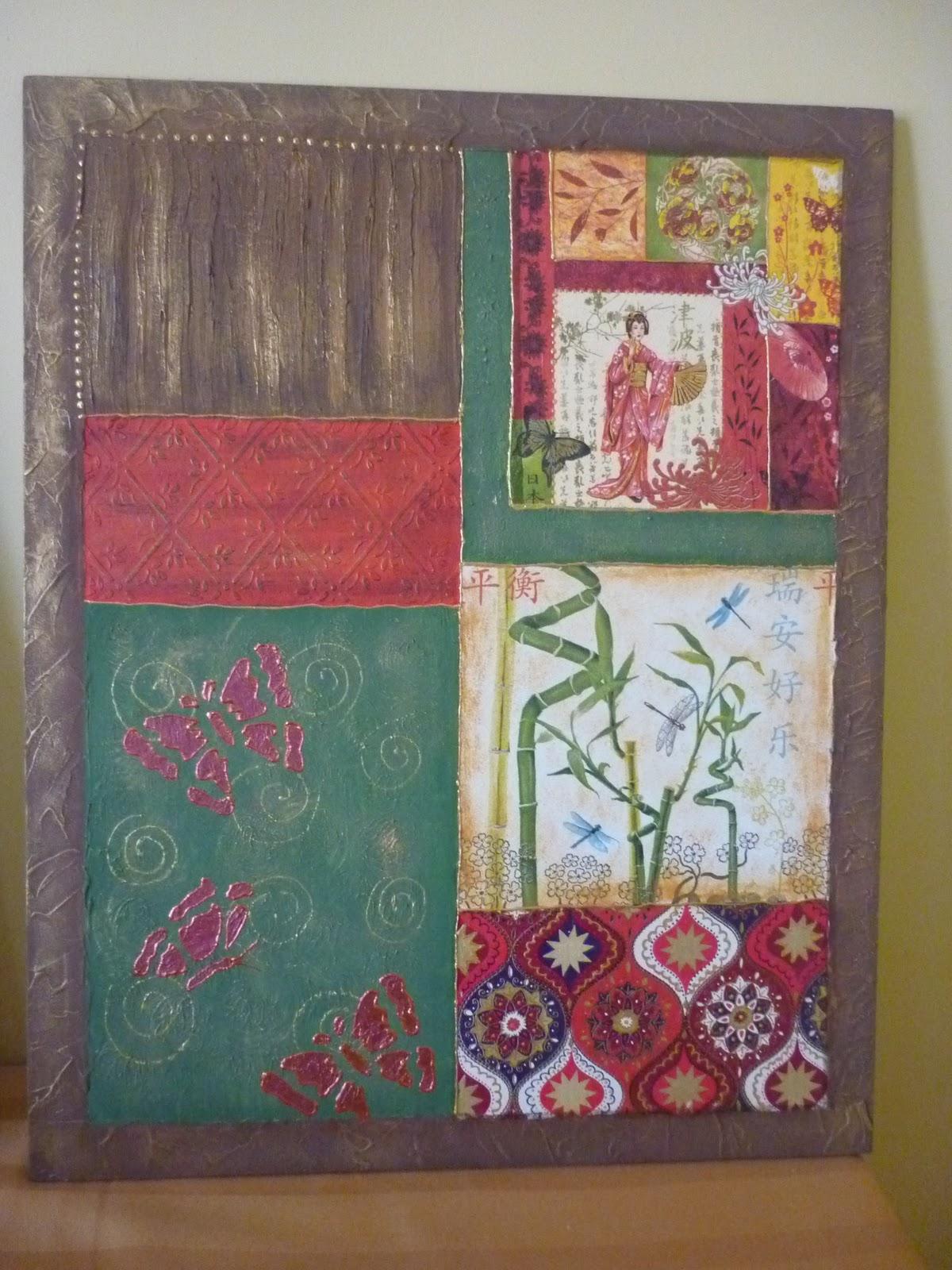 Manualidades cuadro creativo con diferentes texturas - Cuadros con texturas abstractos ...