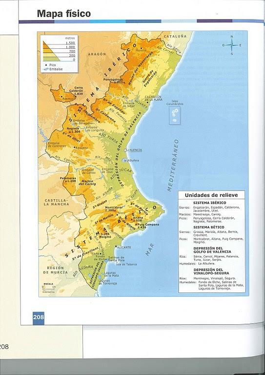 Mapa de España físico, con provincias o ríos para imprimir