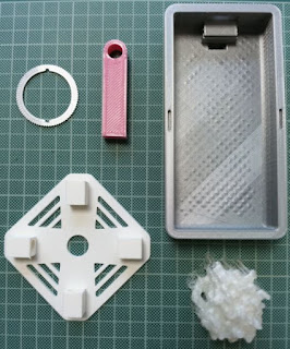 Various project related parts printed on 3D printers