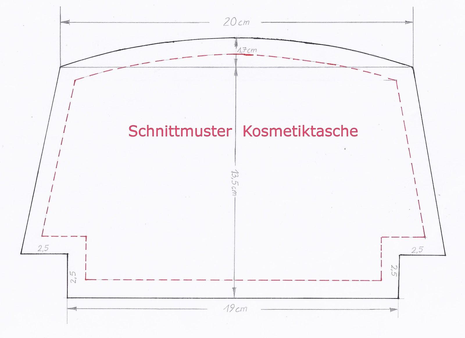 Mutterhenne: Schnittmuster Kosmetiktasche u.a.