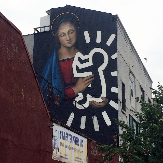The latest addition to the Bushwick Collective's collection of murals in New York City is a new piece by Owen Dippie which was just completed earlier this week in trendy Brooklyn.