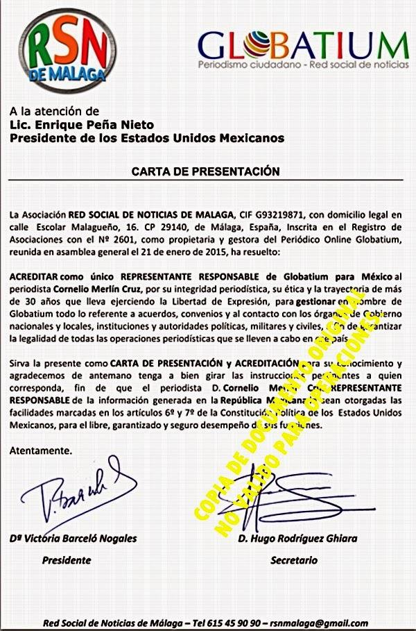 ACREDITACIÓN OFICIAL DE GLOBATIUM.
