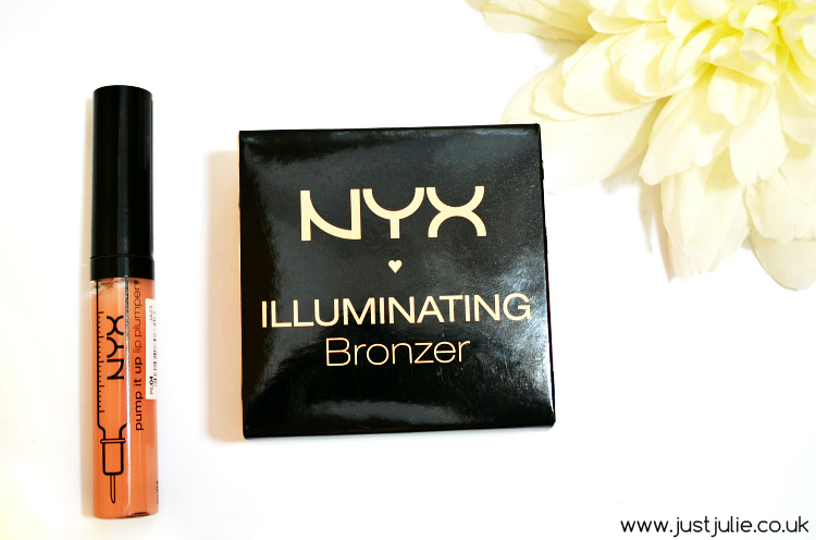NYX Plump it up Lip Plumper in 'Pamela and NYX Illuminating Face & Body Bronzer in 'Chaotic'