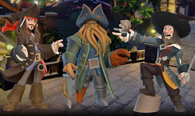 Disney Infinity pirates Jack Sparrow Davy Jones Barbossa game