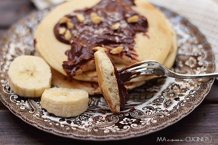 pancake con albumi e latte di cocco