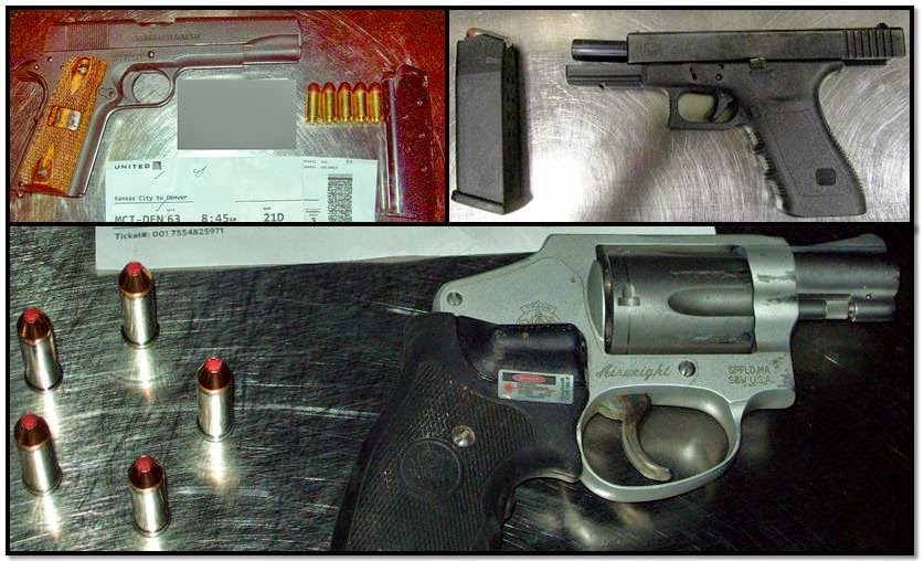 Clockwise from top left, firearms discovered at: MCI, MIA & MCI