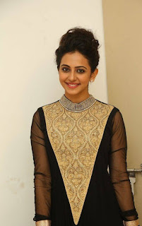 Actress Rakul Preet Singh Pictures in Stylish Long Dress at Harinath Wedding Reception  1