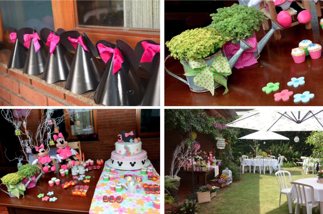 decoracao no jardim:Baby Guide Festa Infantil: Jardim Colorido da Minnie