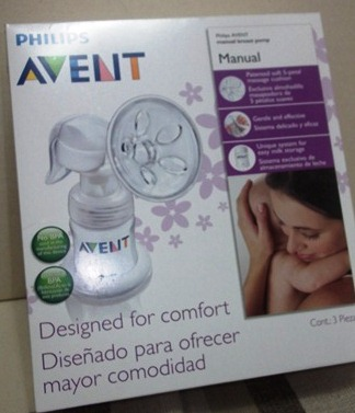 avent manual breast pump out and about set
