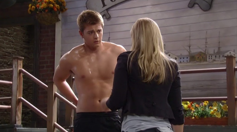 Chad Duell Shirtless in General Hospital 20120612