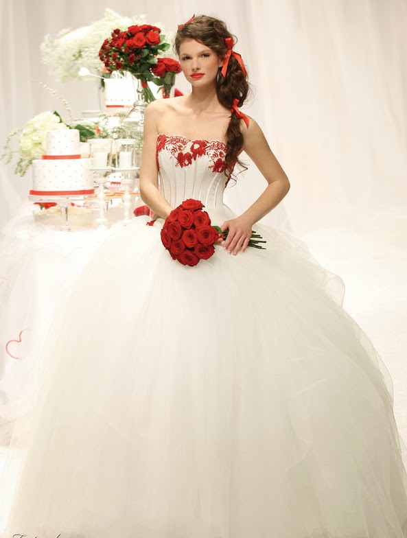WhiteAzalea Ball Gowns: White Ball Gown Wedding Dresses with Red ...