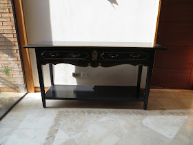 DIY arrimo negro/ black console table