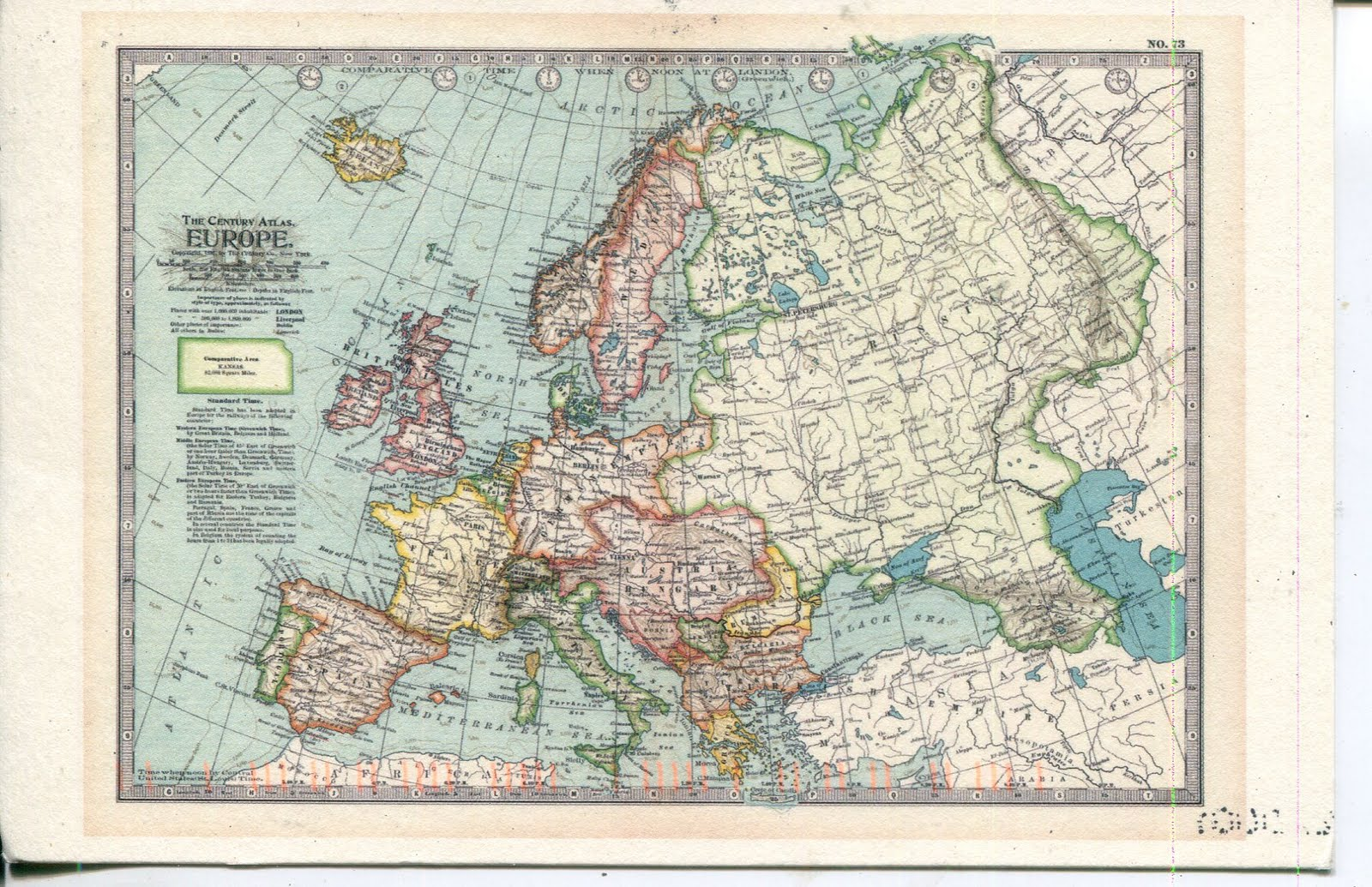 collect ROC USA Postcard Old Map of Europe