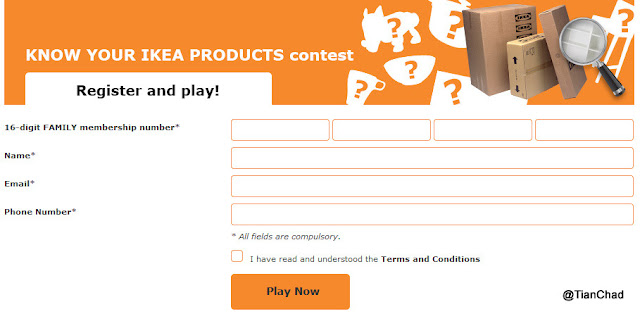 Win RM80 IKEA Gift Card Tips & Hints answer