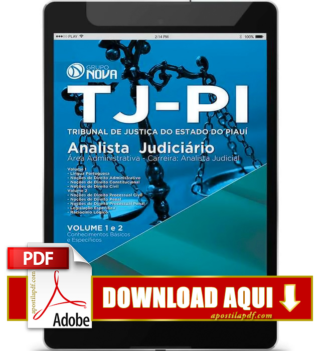 Apostila TJ PI 2015 PDF Download Analista Judicial